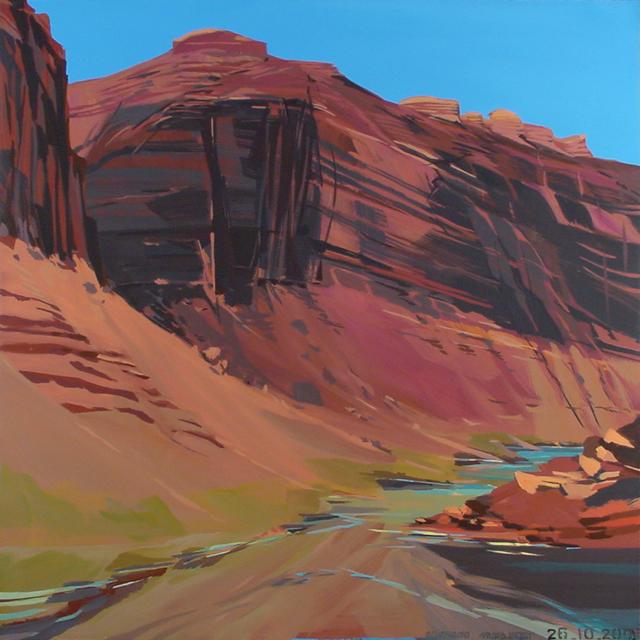 Peinture de l'Ouest américain par Michelle Auboiron - Colorado - Moab - Utah