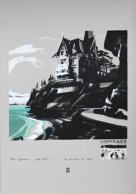 Villa Cézembre - Port Salut - Peinture de Dinard par Michelle Auboiron - Acrylique sur carton 100 x 70 cm