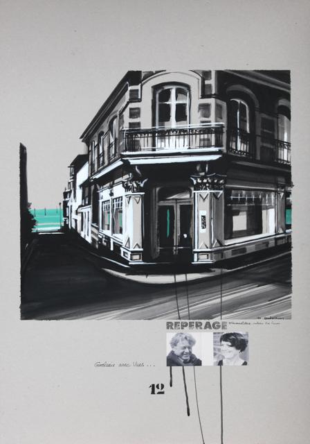 Galerie Vue sur Mer - Peinture de Dinard par Michelle Auboiron - Acrylique sur carton 100 x 70 cm
