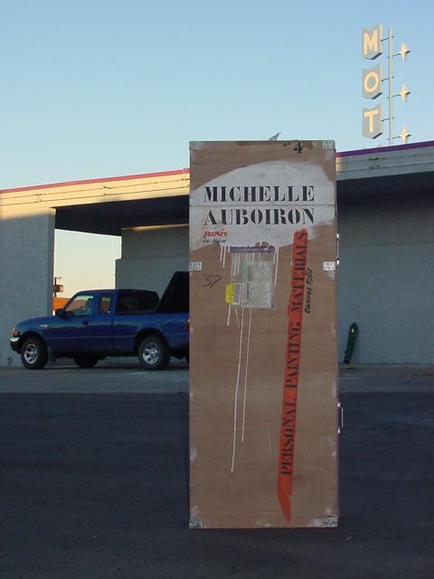 Peinture live des vieux motels de Las Vegas par Michelle AUBOIRON