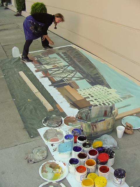 Michelle-Auboiron-Bridges-of-Fame-peinture-live-New-York-San-Francisco-2003--32