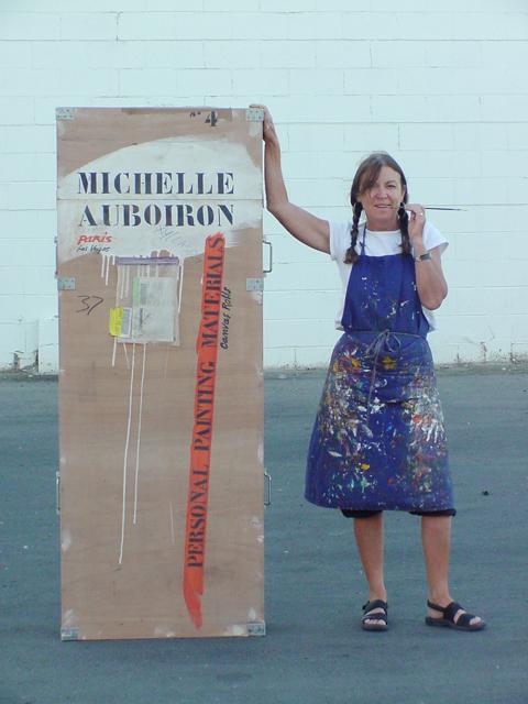 Michelle-Auboiron-Motels-of-the-50-s-peinture-live-a-Las-Vegas-13