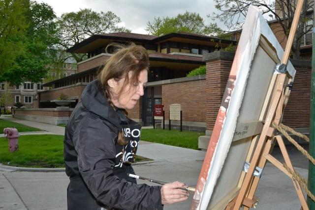 Robie-House-Frank-Loyd-Wright-Painting-Michelle-Auboiron-8