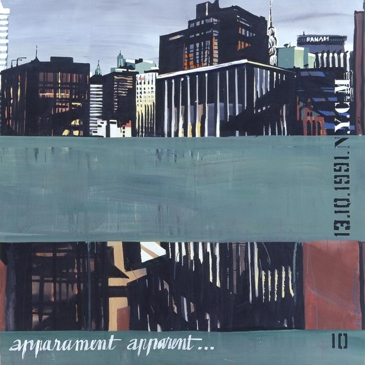 Parker Meridien 10 - Peinture de New York par Michelle AUBOIRON