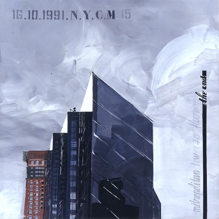 Parker Meridien 15 - Peinture de New York par Michelle AUBOIRON