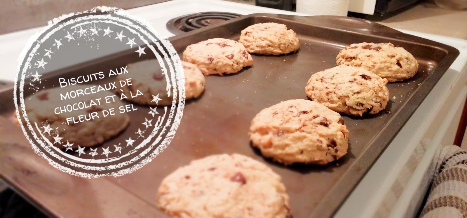Biscuits aux morceaux de chocolat et à la fleur de sel - Auboutdelalangue.com