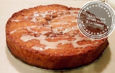 Gâteau aux pêches glacé à la vanille - Auboutdelalangue.com