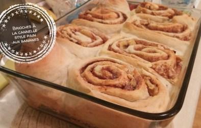 Brioches à la cannelle style pain aux bananes - Auboutdelalangue.com