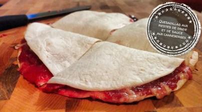 Quesadillas aux restes de dinde et de sauce aux canneberges - Auboutdelalangue.com