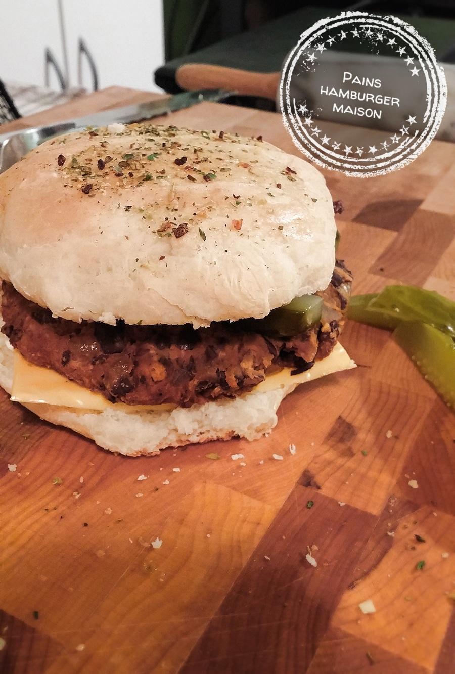 Pains hamburger maison au bout de la langue - Recette hamburger maison original ...