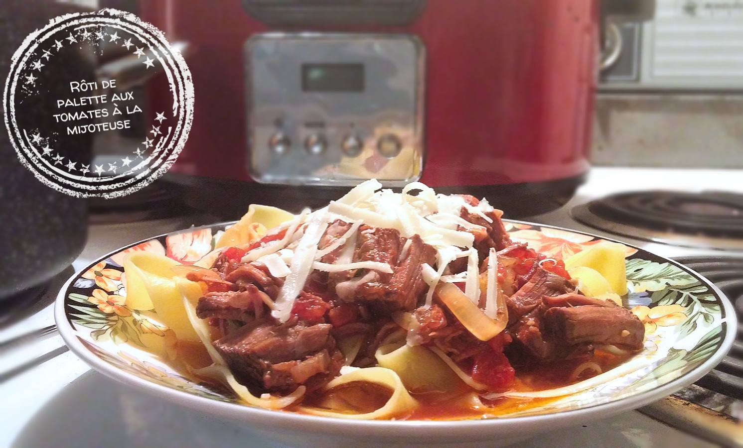 Rôti de palette aux tomates à la mijoteuse - Auboutdelalangue.com