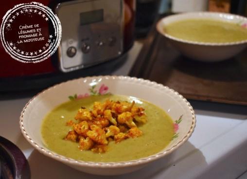 Crème de légumes et fromage à la mijoteuse - Auboutdelalangue.com