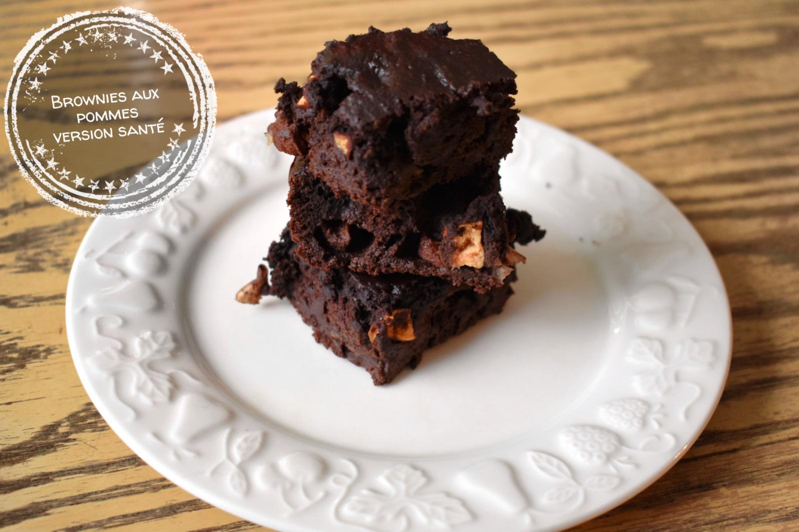 Brownies aux pommes version santé - Auboutdelalangue.com