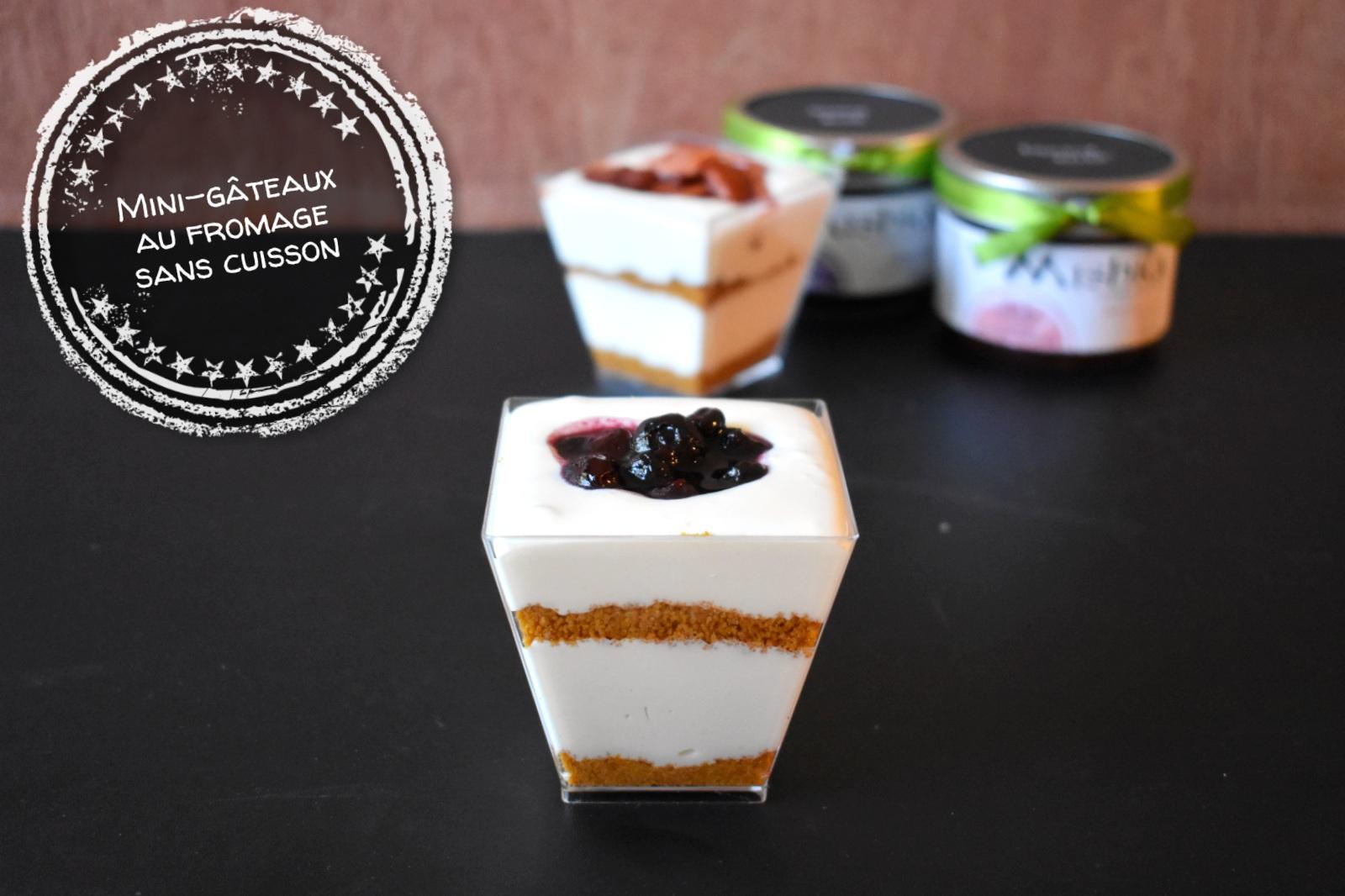 Mini-gâteaux au fromage sans cuisson - Auboutdelalangue.com