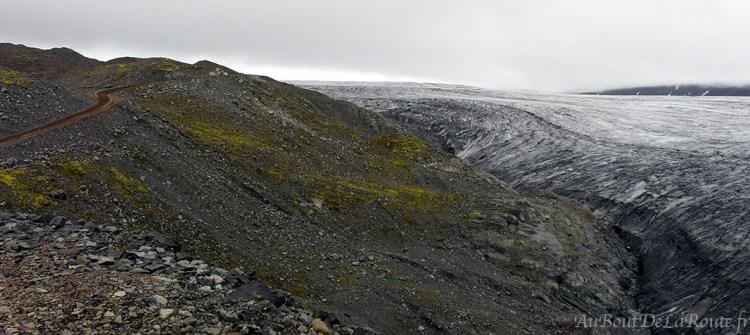 Piste 985 et glacier