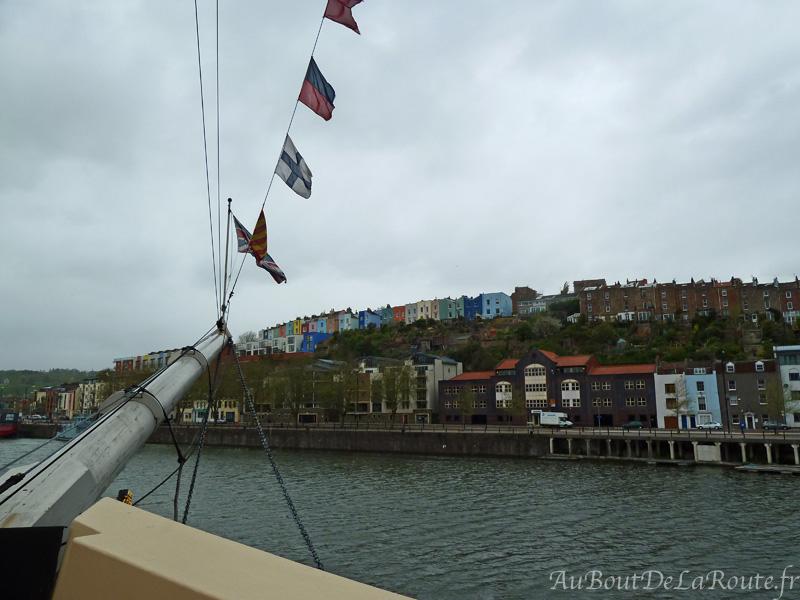 Vue sur Bristol de la poupe du SS Great Britain
