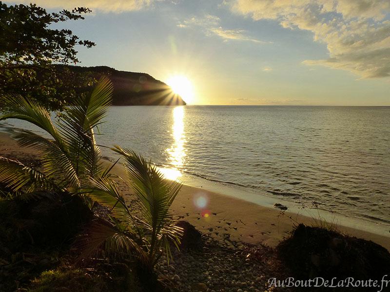 Plage de Douglas Bay sunset