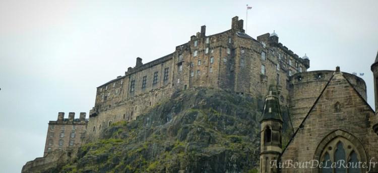 Vue sur le Chateau d Edimbourg
