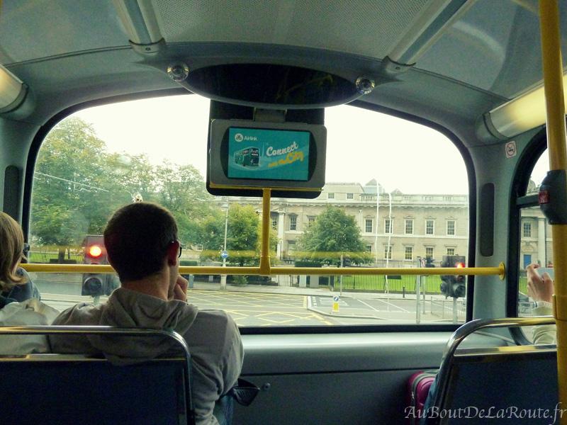 Ecran d'un bus