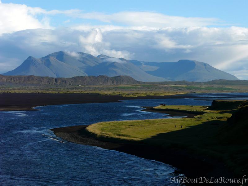 Vue sur Ósar et Sigríðarstaðavatn