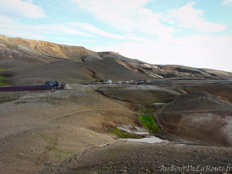 Station geothermique pres de Víti