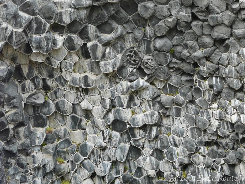 Nids d abeilles roche basaltique