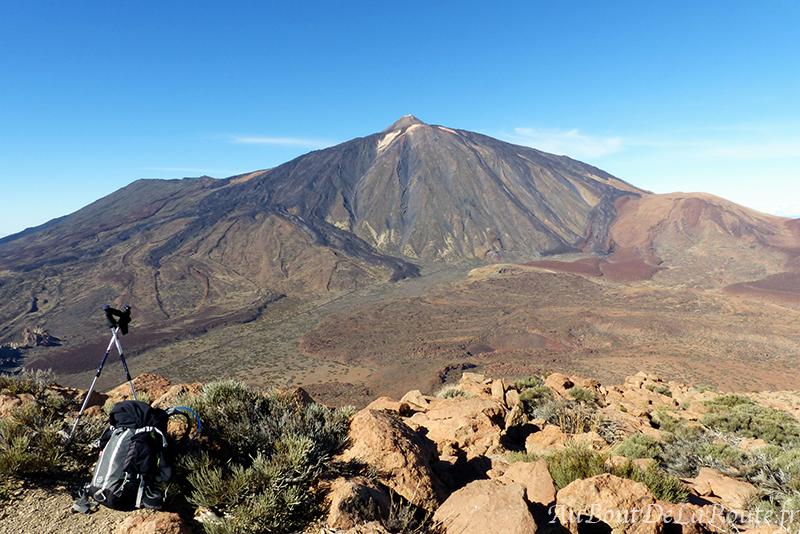 Vue sur le Teide du Sommet du Guajara