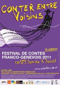 Affiche du festival conter entre voisins 2011