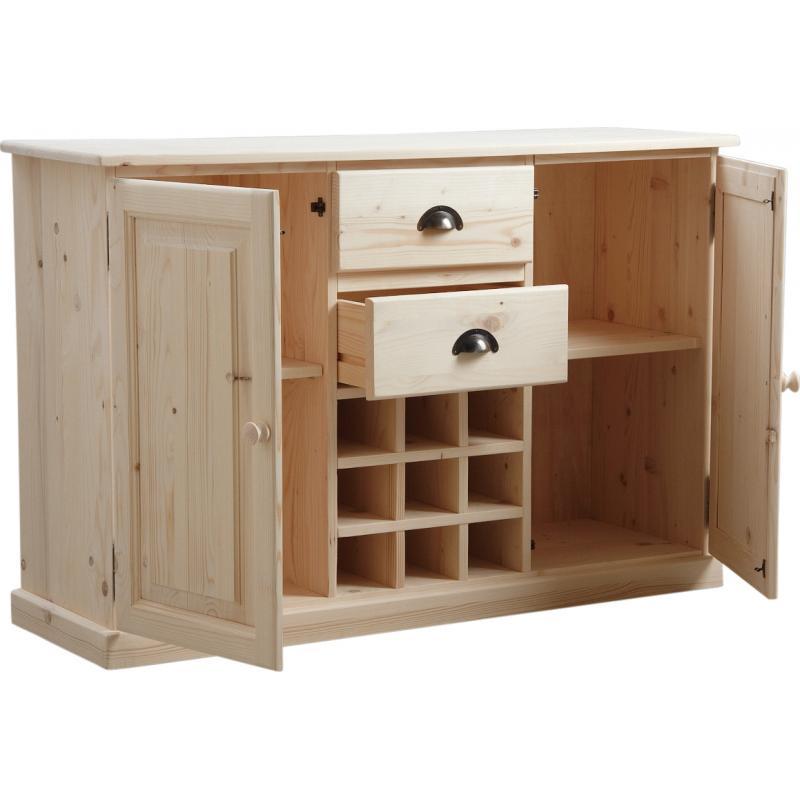 buffet de cuisine en bois brut ncm2730 aubry gaspard
