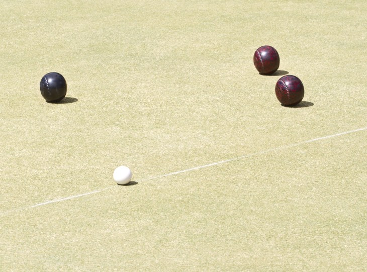 Lawn Bowls being played