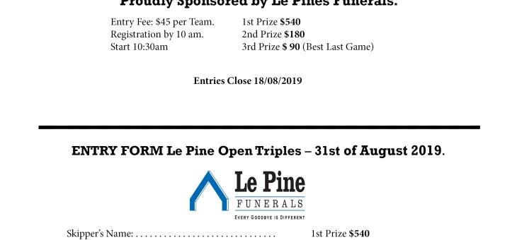 Le Pine Triples 2019