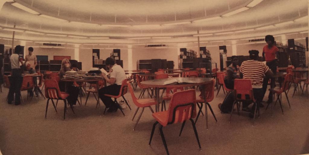 Library interior, 1981