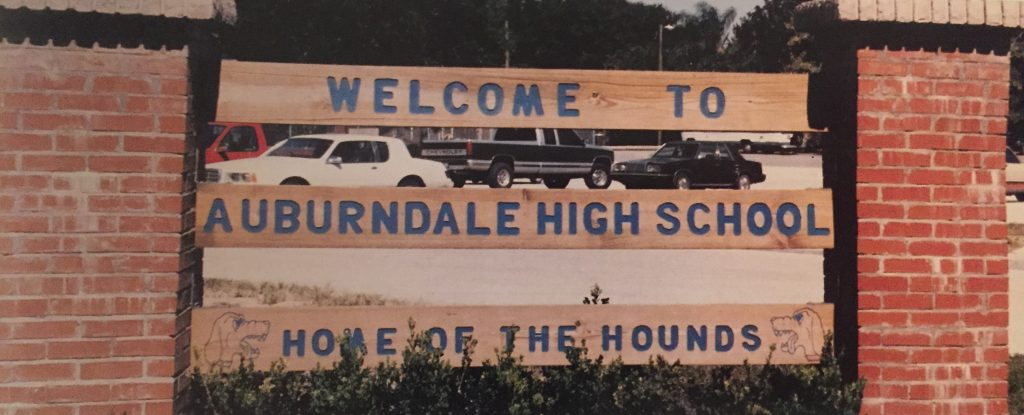 Front sign, 1997