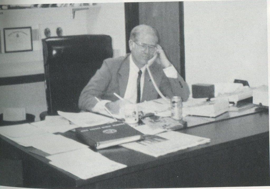 Principal Londeree at his desk, 1993