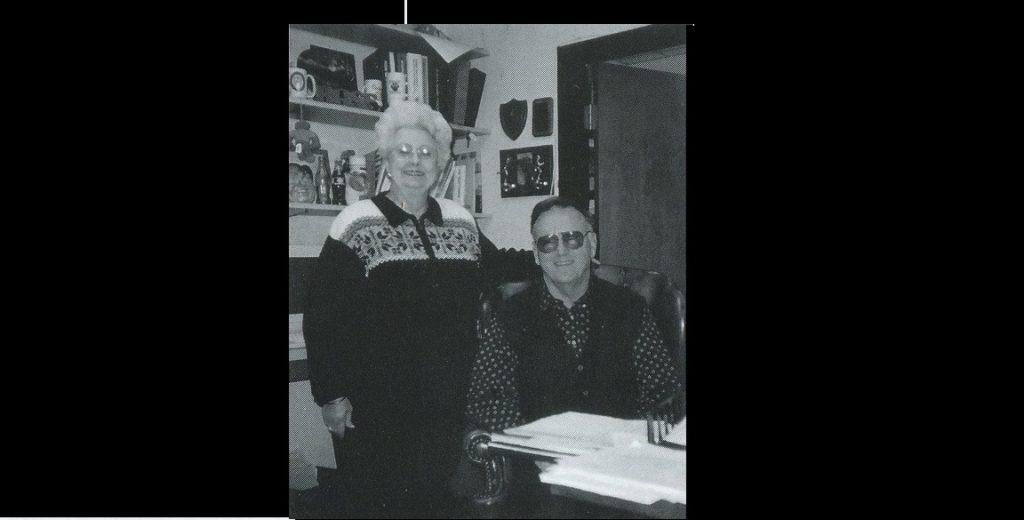 Principal Partain at his desk, 1999