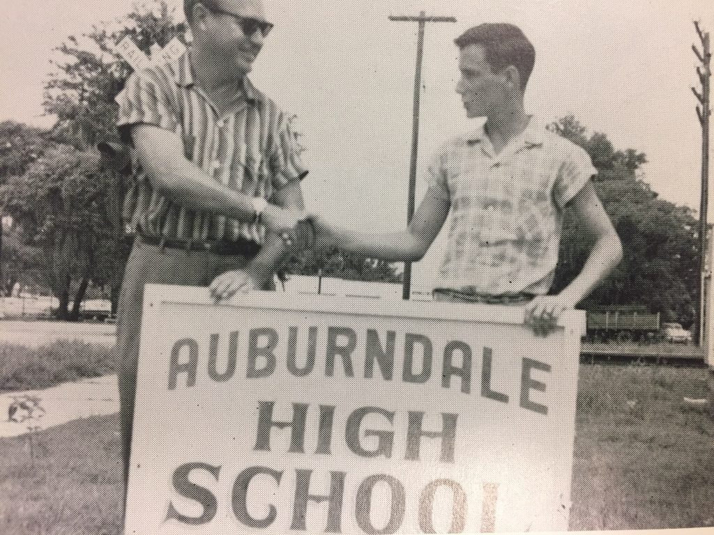 Key Club donates a new sign, 1960