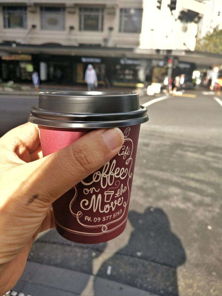 Coffee from Le Petit Cafe, Auckland CBD