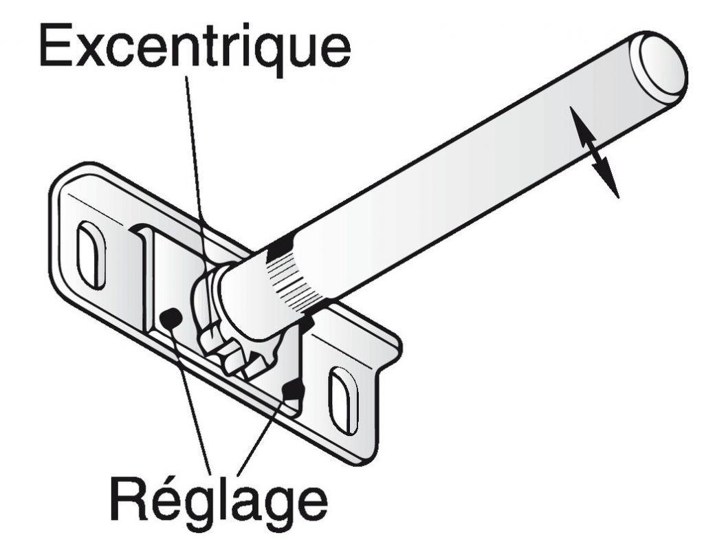 console invisible reglable fixation murale acier galvanise longueur 110 mm o 12 mm