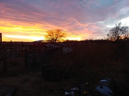 Low light sunset