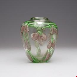 Art Deco Bohemian Art Glass Vase, Circa 1930's