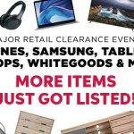 Major Retailer Clerance Event! Sales Ending Every Day!
