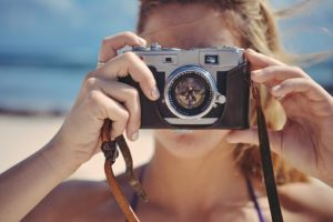 girl taking photos