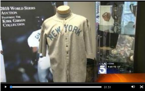low priced 02e50 61736 Video: Babe Ruth Jersey to be Auctioned by SCP Auctions ...