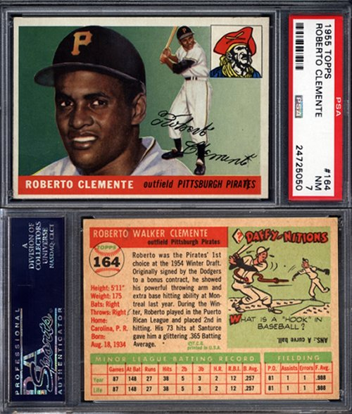 Just Collect Offers Rare 1955 Topps Roberto Clemente Psa 7 Rookie
