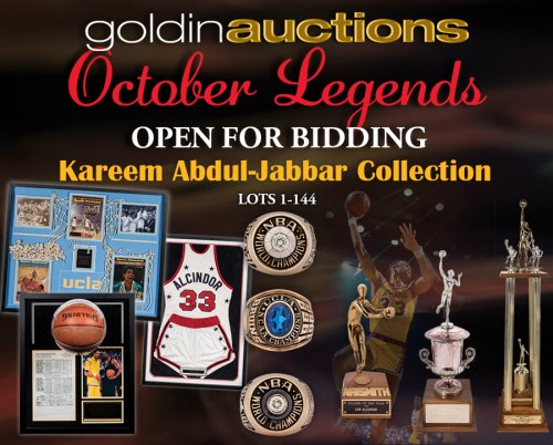 Goldin Auctions October 2018 Auction Featuring The Kareem Abdul ... 3e7f9146d