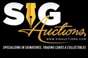 Bid In Sig Auctions Current March 28, 2019 Auction of Autographs, Memorabilia and More