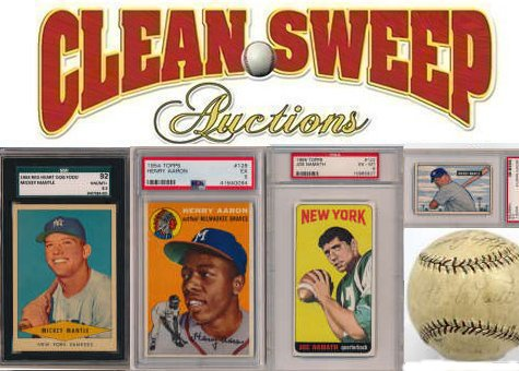 Clean Sweep Major Auction Of Sports Memorabilia Sports Cards And