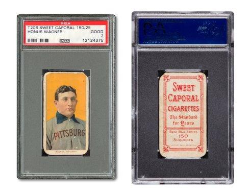 Psa Certified T206 Honus Wagner Baseball Card Sells For 12