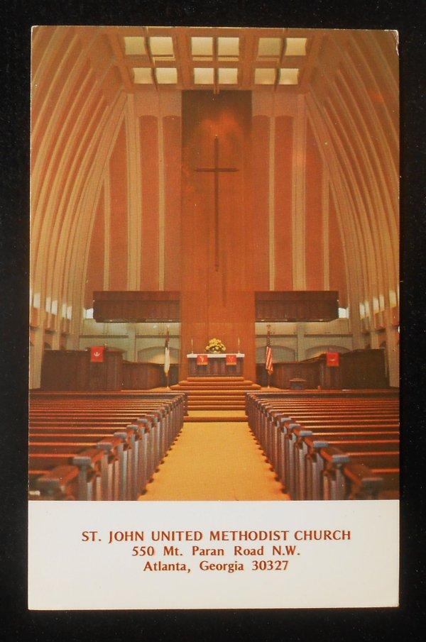 1960s? Interior St. John United Methodist Atlanta GA PC   eBay