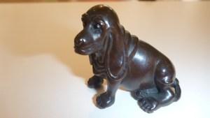 Wooden carved Netsuke - Dog